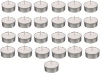 Shreeji Decoration Smokeless Tea Light Candle(25) Candle(White, Silver, Pack of 25) - Price 140 42 % Off