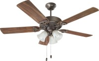 Orient Electric Woodwind 1300 mm 5 Blade Ceiling Fan(Matt Bronze, Pack of 1)