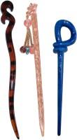 Kabello Curly Combo of Multi Color Juda Sticks Bun Stick(Multicolor)
