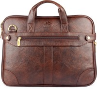 The Clownfish 15.6 inch Expandable Laptop Messenger Bag(Brown)