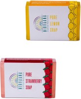 Nirvaana Handmade Natural Assorted Soap Set (Lemon & Orange) Pack of 2(200 g, Pack of 2) - Price 100 66 % Off