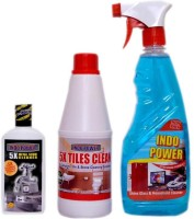 INDOPOWER bathroom floor cleaner Regular(1100 ml, Pack of 3)
