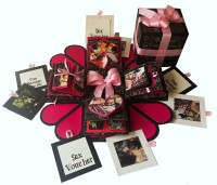 Crack of Dawn Crafts Heart Explosion Box Pink Love Greeting Card Gift Set