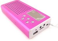 CRETO Latest metal lv 880 model fm radio supports usb pendrive, aux , memory card FM Radio(Pink)