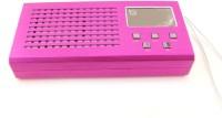 CRETO latest metal fm radio lv 880 supports usb pendrive , memory card ,aux FM Radio(Pink)