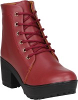 FASHIMO Women Casual Boots Boots For Women(Maroon)
