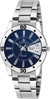 Gesture 1211-Blue Day And Date Chain Watch - For Girls