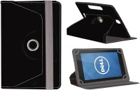 Jkobi Flip Cover for Dell Venue 7(Black, Dual Protection, Artificial Leather)