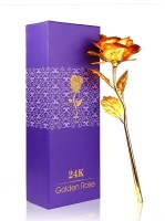 Homesogood 24K Gold Rose With Gift Box Artificial Flower Gift Set