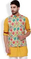 Svanik Sleeveless Printed Men Jacket
