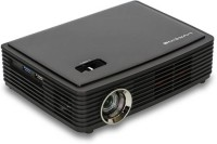LUXCINE 1500 lm DLP Corded Portable Projector(Black)