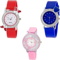 OpenDeal Combo Pack 3 stylish designer analogue watch for girls & Women Watch - For Girls