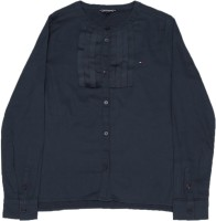 Tommy Hilfiger Girls Solid Casual Shirt