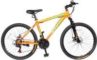 Vivid Smart Boy 26*2.10 Disc Brakes & Suspention Diamon Cut Rims Bike For Adults Orange 26 T Mountain/Hardtail Cycle(21 Gear, Multicolor)