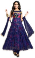 Julee Art Silk Floral Print Semi-stitched Salwar Suit Dupatta Material