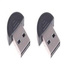 techdeal SET OF 2PC 20METER 4.0 CSR 3.0 Bluetooth Dongle USB Adapter(Black)