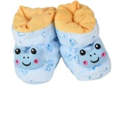 Tiekart Funky Blue Flannel Booties Footwear for Baby Boys and Baby Girls Booties(Toe to Heel Length - 17 cm, Blue)