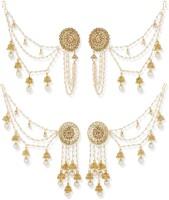 Luxor Designer Diamond, Pearl Alloy Jhumki Earring