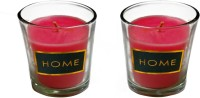Limerick Home Rose & Verbena Fragrance Set Of 2 Votive Candle(Pink, Pack of 2)
