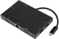 Microware Type - C Adapter 8 In 1 (HDMI+VGA+LAN+SD+AUDIO+TYPE-C+USB 3.0*2) USB Adapter(Black)