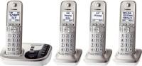 View Panasonic KX-TGD224S Cordless Landline Phone with Answering Machine(White) Home Appliances Price Online(Panasonic)