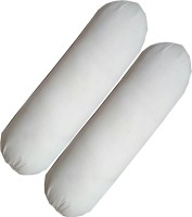 G S COLLECTIONS Long Luxury Pillows, White Round Pillows Bolster Pack of 2(White)