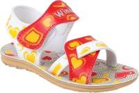 WINDY Boys & Girls Velcro Flats(Red)