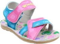 WINDY Girls Velcro Flats(Pink)