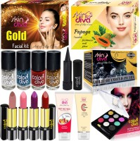 SkinDiva Buy 5 Pc Facial Skin Combo With 10 Pc Makeup Kit(Pack of 15) - Price 798 77 % Off