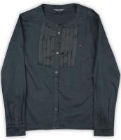 Tommy Hilfiger Girls Solid Casual Mandarin Shirt