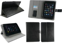 Emartbuy Wallet Case Cover for Xiaomi Mi Pad 2 Tablet 7.9 Inch(Black Plain, Artificial Leather)