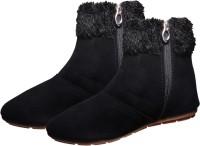 Ziaula Long Light Weight Black Shoes Boots For Women(Black)