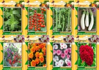 Airex Mint, Tomato Cherry, Snake Gourd, White Long Brinjal, Gomphrena Mixed, French Marigold, Vinca and Cockscomb Tall Red (Summer) Seed + Humic Acid Fertilizer (For Growth of All Plant and Better Responce) + 15 gm Humic Acid + Pack Of 30 Seeds * 7 Per Packet + 15 Snake Gourd Seed(30 per packet)