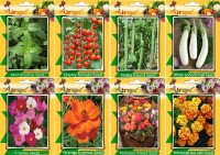 Airex Mint, Tomato Cherry, Snake Gourd, White Long Brinjal, Cosmos Mixed, Orange Cosmos, Portulaca Mixed and Marigold Gul Jafri (Summer) Seed (Pack Of 20 Seed * 8 Per Packet Seed(20 per packet)