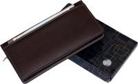 Kittu Front pocket Leatherite Cheque Book Holder Document Folder Black (set of 1)(Brown)