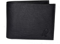 e mall Men Black Artificial Leather Wallet(3 Card Slots)