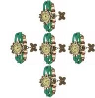 MAPA STYLE Stylish Designer Dori Green 5 Combo Analog Watch Girls Or Womens MPSTYLE 056 Watch  - For Women