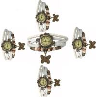 MAPA STYLE Stylish Designer Dori White 5 Combo Analog Watch Girls Or Womens MPSTYLE 059 Watch  - For Women