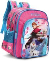 Disney Frozen Trio Pink and Blue 16' ' School Bag(Pink, Blue, 30 L)