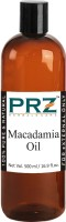PRZ Macadamia Cold Pressed Carrier Oil (500ML) - Pure Natural & Undiluted For Skin Care & Hair Care Hair Oil(500 ml)