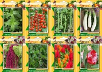 Airex Mint, Tomato Cherry, Snake Gourd, White Long Brinjal, Red Amaranthus, Holy Basil (Shyama Tulsi), Celosia and Balsam Rose Gulab Seed (Pack Of 20 Seed * 8 Per Packet Seed(20 per packet)