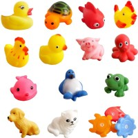 Wishkey Baby Bath Toys-Set Of 14 For Boys Girls Kids Baby Bath Toy(Multicolor)