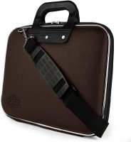 """Style Homez Stylish Unisex Hard Shell Briefcase Laptop Bag 15.6"""" with Strap, Brown Large Briefcase - For Men & Women(Brown)"""