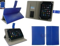 Emartbuy Wallet Case Cover for Dell Venue 11 Pro 7000(Blue Plain, Artificial Leather)