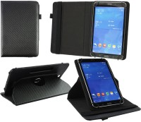Emartbuy Wallet Case Cover for Acer Iconia One 7(Black Carbon, Charging Case, Artificial Leather)