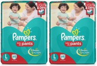 Pampers BABY DRY PANTS, LARGE SIZE, 68 Pcs. PACK, SET OF 2 PACKS, FOR BABY WEIGHT 9-14 Kgs. - L(136 Pieces)