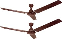 View Four Star FABIA Brown 1200mm - Pack Of 2 3 Blade Ceiling Fan(BROWN) Home Appliances Price Online(Four Star)