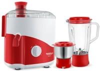 Maharaja Whiteline ODACIO 450 Juicer Mixer Grinder(RED & WHITE, 2 Jars)