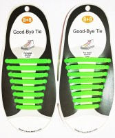 Bolt No Tie Elastic Silicone Shoelaces GREEN Shoe Lace(Green Set of 8)