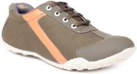 TEN TEN Khaki Fabric Casual Shoes Sneakers For Women(Khaki)